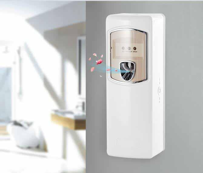 Battery Air Freshener Dispenser , Automatic Air Perfume Dispenser With Lock