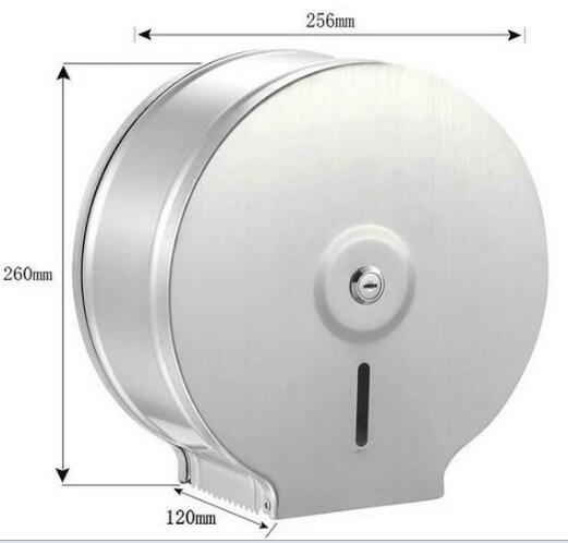 Silver 304 Stainless Steel Jumbo Toilet Roll Holder Wall Mounted Type For Public Places