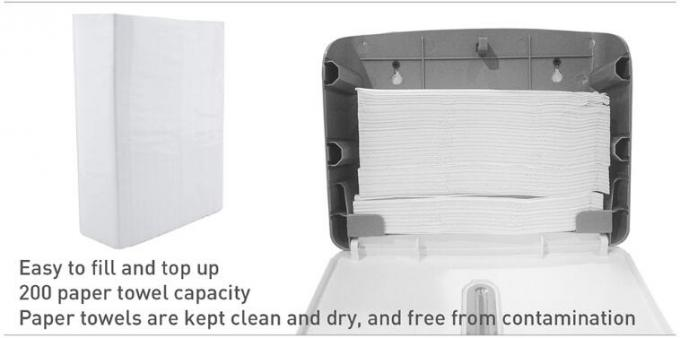 ABS Plastic Hand Paper Dispenser , Hand Cleaning Folded Toilet Paper Dispenser