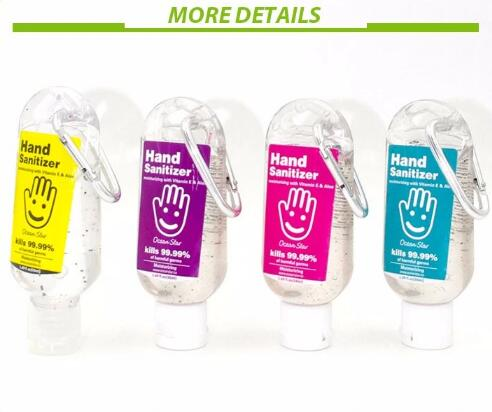 Antibacterial Medical Portable Hand Sanitizer Various Flavors With Climbing Hook Clip