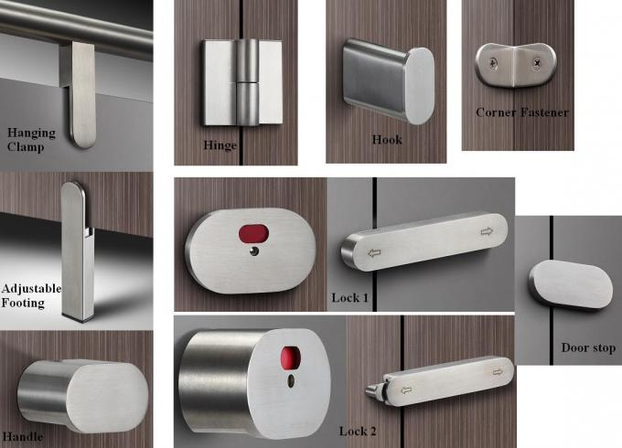 Bathroom Toilet Cubicle Hardware , Self Closing Toilet Partition Door Hinges