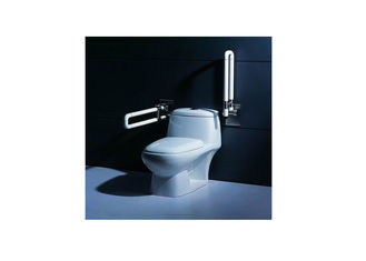 China Commercial Toilet Hardware Flip Up Grab Bar With Anti - Skidding Surface supplier