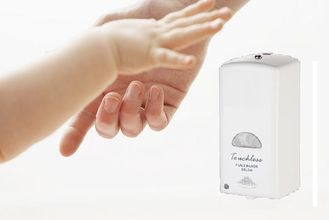 China Plastic Touchless Hand Sanitizer Dispenser Liquid / Foam Soap Dispenser White Color supplier