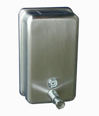 China Stainless Steel Wall Mount Manual Hand Soap Dispenser With Brass Pump For Commercial supplier