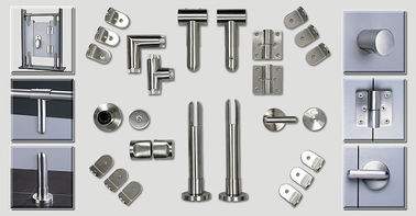 China Bathroom Toilet Cubicle Hardware Cubicle Partition Accessories Stainless Steel For WC supplier